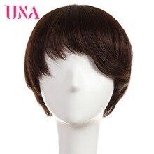 UNA Remy Brazilian Straight Human Hair Wigs For Women 120% Density Color #1 #1B #2 #4 #27 #30 #33 #99J #BUG #350 #2/33