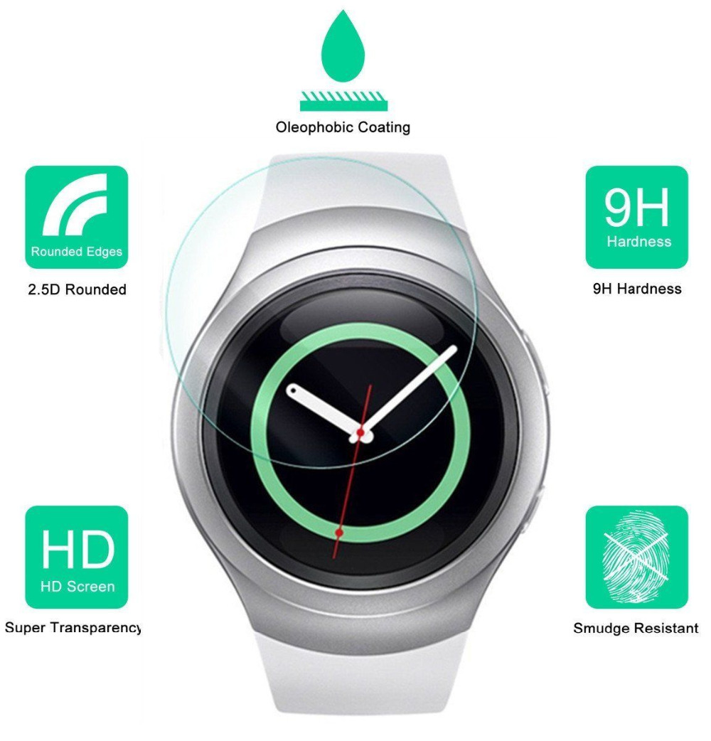 Amazing 9H Premium Explosion-proof Tempered Glass For Samsung Gear S2 Screen Protector S2 Classic Smart Reloj Protective Film