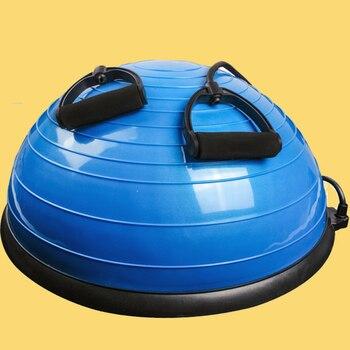 Media pelota de Yoga equilibrio gimnasio entrenamiento pelota Pilates medio Yoga ejercicios entrenamiento Fitball con cuerdas y bomba