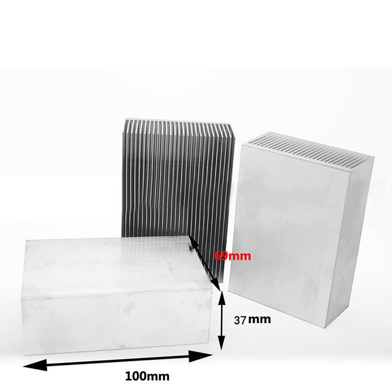 1pc Large Big Aluminum Heatsink Heat Sink Cooling Radiator for Led High Power rf Amplifier tTransistor Mayitr jeyi cooling warship copper m 2 heatsink nvme heat sink ngff m 2 2280 aluminum sheet thermal conductivity silicon wafer cooling