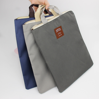 dde76055025 A4 Oxford File Folder Bag Men Portable Office Supplies Organizer Bags  Casual Ladies Tote Office School Document Supplies