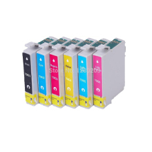 1 set T0811 Ink Cartridge for Epson T50 R270 R390 RX590 R290 R610 RX690 TX700W TX800W printer for Epson Stylus photo r290 r270
