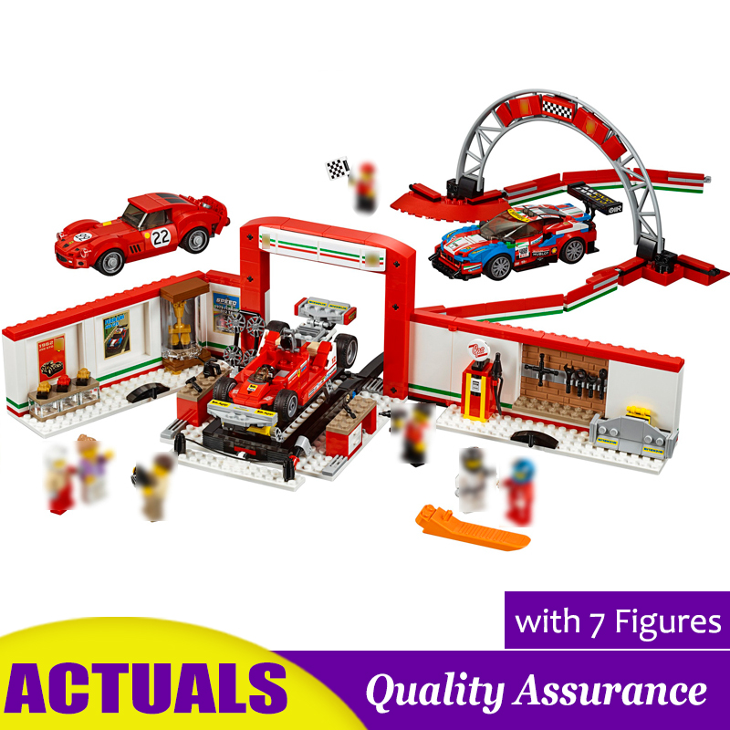 Ultimate Garage Compatible 75889 Building Blocks Classic Red Super Car Racer Racetrack Model Bricks Kids Gift