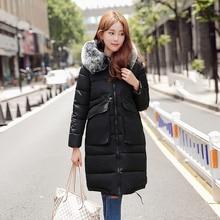 Новый Плюс Размер Мода Зимнее Пальто Женщин Длинный Жакет Пальто куртка Женская одежда Хлопок Вниз Пальто Свободные Пальто Пальто 4 цвет