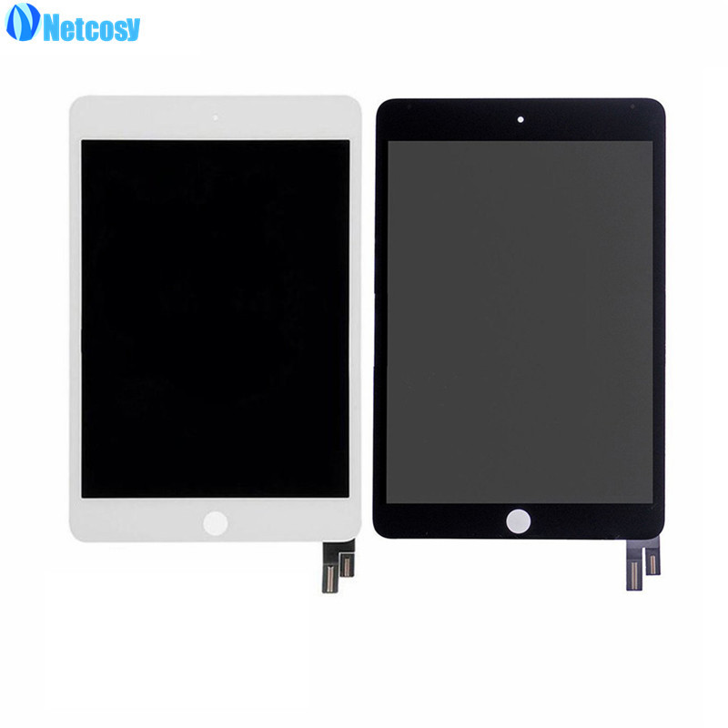 Netcosy For ipad mini 4 LCD Screen High quality Black / White LCD display+Touch screen assembly for ipad mini 4 A1538 A1550 pcu p247a high pressure bars for lq104s1lg61 lcd display screen