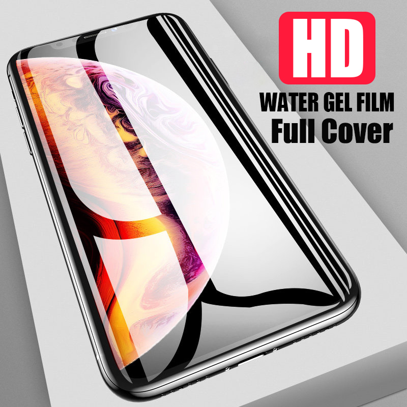 For IPhone 8 7 6 6S Plus Hydrogel Screen Protector Full Cover Screen Protector Film Not Glass For IPhone XS Max XR X 8 7 Plus
