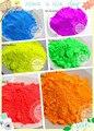 6 неоновые цвета люминесцентная неон пигмент порошок для лак для ногтей и живопись и печать 1 лот = 10 г * 6 цветов = 60 г