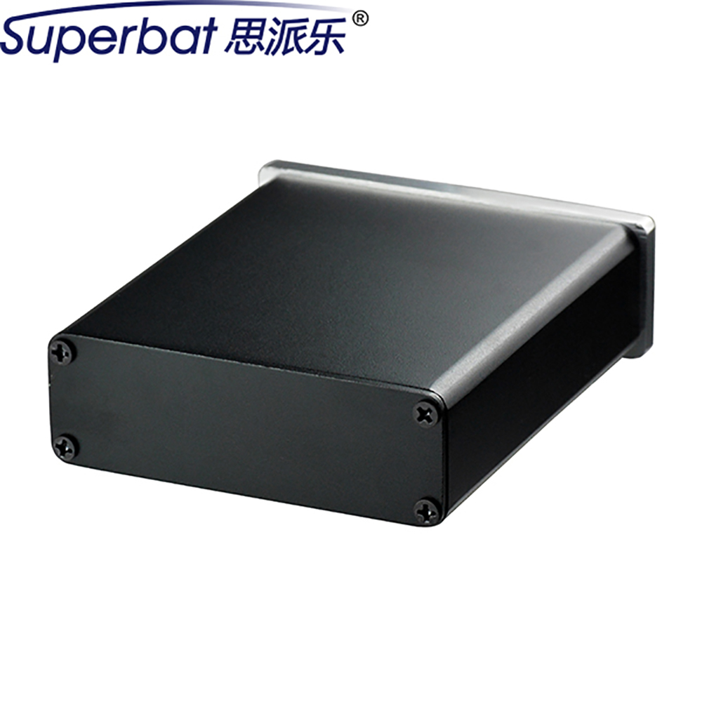 High Quality 84*28*95mm Amplifier Power Enclosure HIFI Electron Tube Shell Aluminum Box 3.31″*1.10″*3.74″ Electronic PCB Case