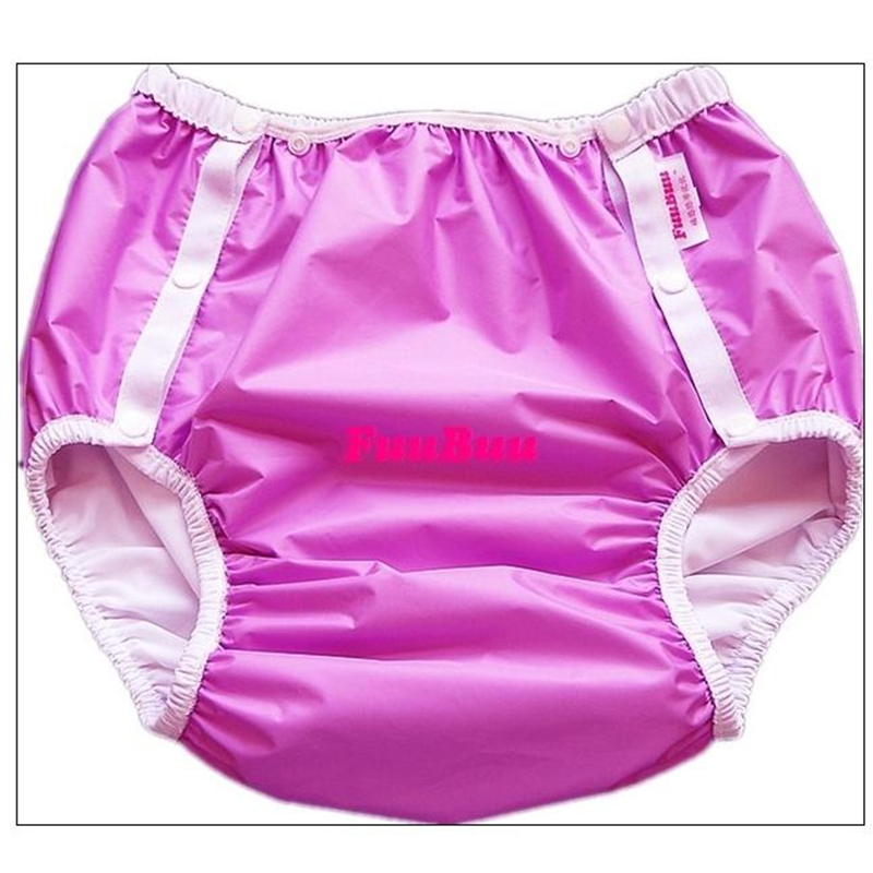 Free Shipping FuuBuu2214-PURPLE-M Adult Diaper/ Incontinence Pants/ Diaper Changing Mat/ABDL