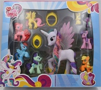 Beautiful BOX Collection Model Toys For Children Anime Cartoon Lovely Rainbow Horse Princess Luna PVC Unicorn