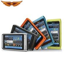 """N8 Nokia мобильный телефон 3,"""" емкостный сенсорный экран Камера 12MP 3g разблокированный N8 мобильный телефон один год гарантии"""