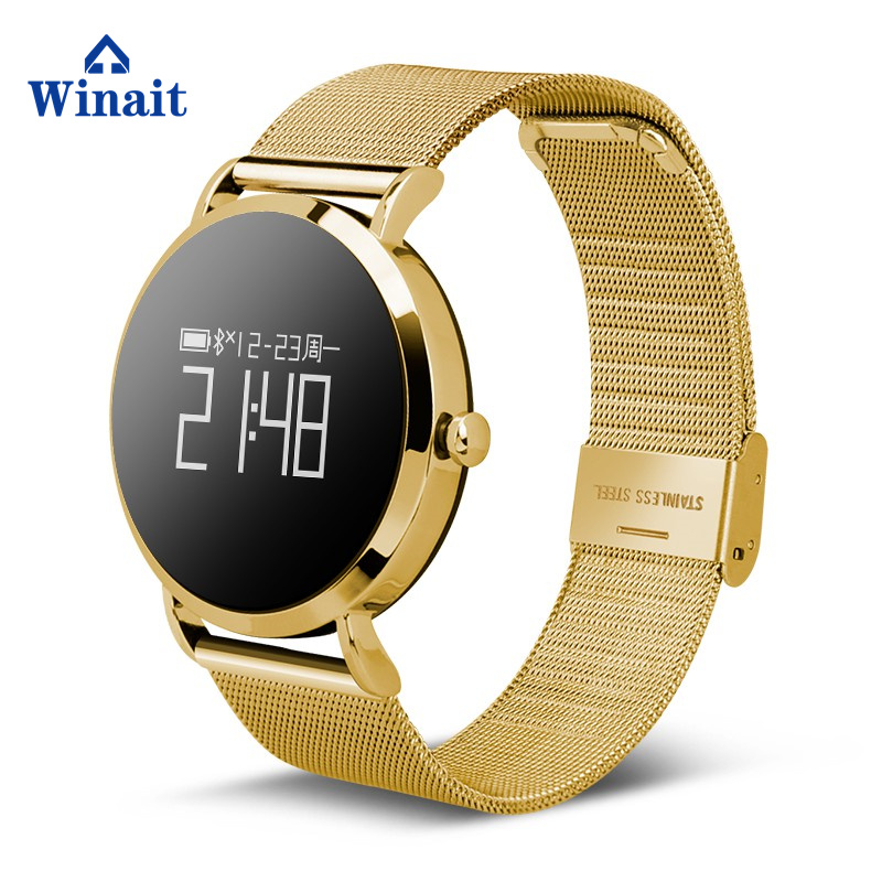 Montre intelligente numérique étanche Winait CV08 IP67 avec fréquence cardiaque/pression artérielle/0.95 OLED affichage montre numérique en métal pour hommes