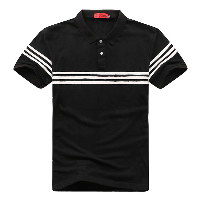 <font><b>8XL</b></font> 7XL 6XL Men Pure color Shirts short sleeve Brand Mens stripe Shirts Camisa Masculina Men Business shirs <font><b>hombre</b></font> image