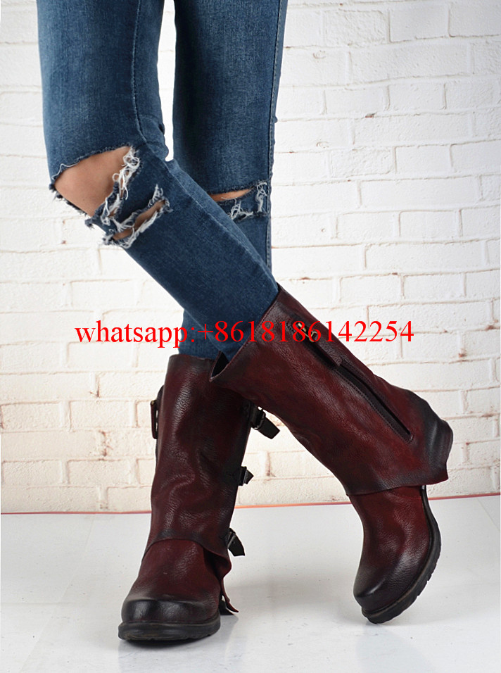 Handsome Belt Buckle Thick Heel Ankle Boots Women Round Toe Casual Knight Boots Female Neutral Boots Cool Motorcycle Boots