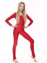 Icostumes Stretchy Spandex Black Scoop Neck Long Sleeve gymnastic suit Unitard Dancewear Stirrup Bodysuit Ballet Catsuit