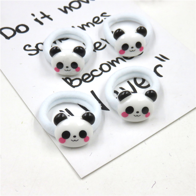 10PCS/LOT Lovely Panda Elastic Hair Bands For Girls Chinese Style Clip Headband Scrunchy Hairpin Kids Hair Accessories For Women