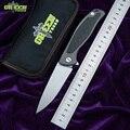 Складной нож с зеленым шипом F95 D2 лезвие TC4 титановое углеродное волокно ручка для кемпинга охоты карманный нож для фруктов EDC инструмент