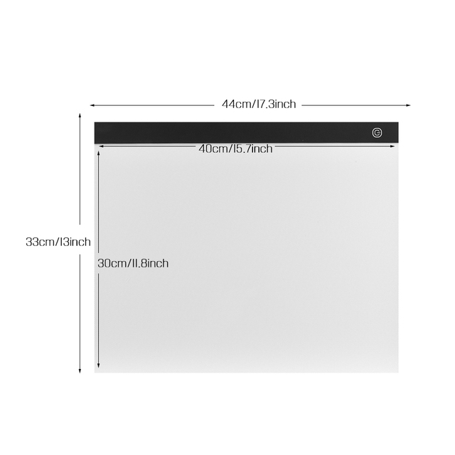 Aibecy A3 Light Box LED Tracing Light Pad Stepless Dimming Drawing Tablet Eye-protecting Pad for Painting Sketching Animation