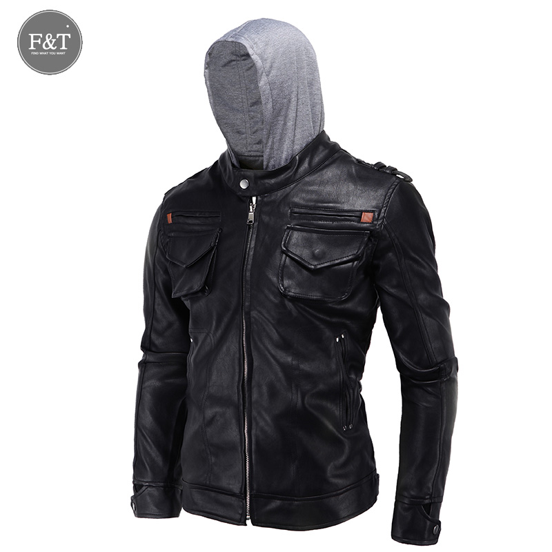 New Winter Leather Jacket Men Fashion Brand Casual Hooded ...