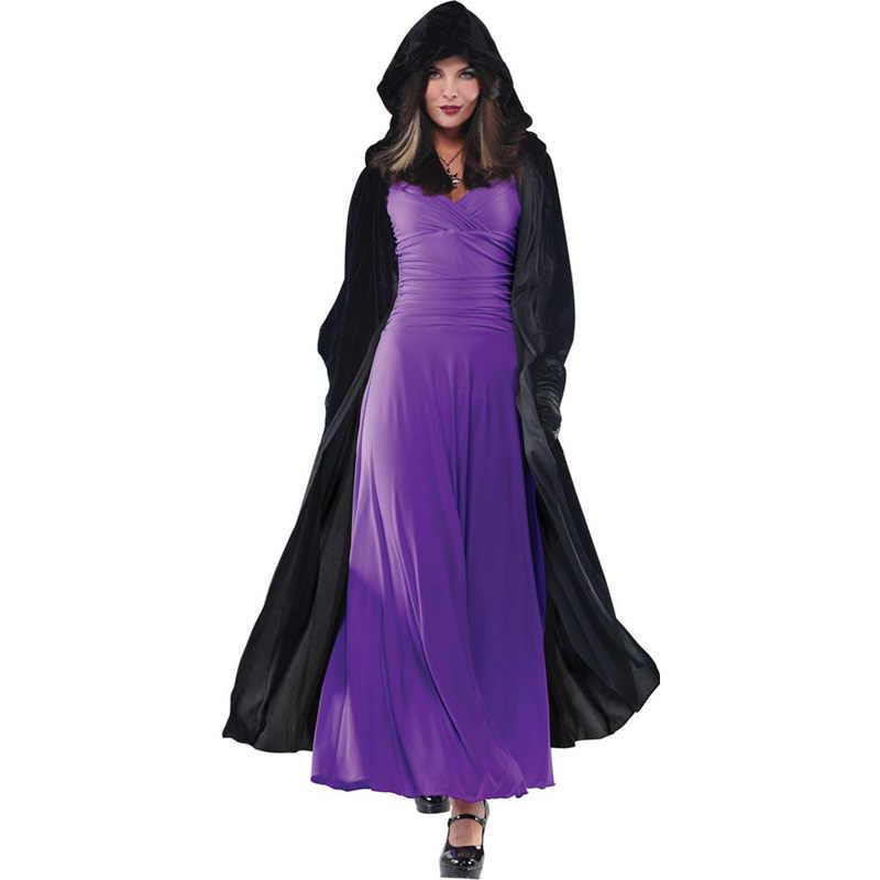 大人衣装ハロウィン衣装男性と女性吸血鬼ケープフード付きマント