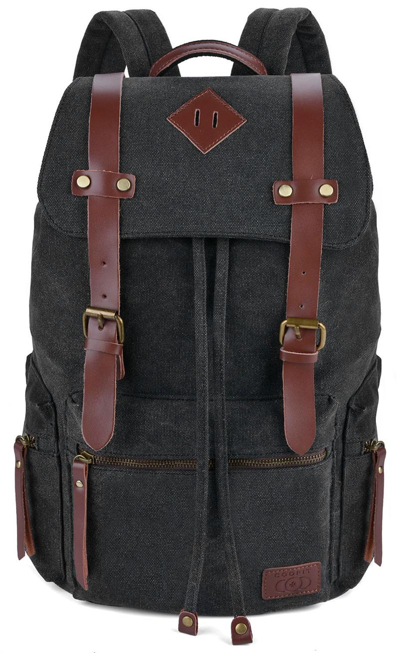 Vintage Large Capacity Men Backpack Retro Canvas Schoolbag For Boys Students Teens Casual Drawstring Backpacks DaypacksVintage Large Capacity Men Backpack Retro Canvas Schoolbag For Boys Students Teens Casual Drawstring Backpacks Daypacks