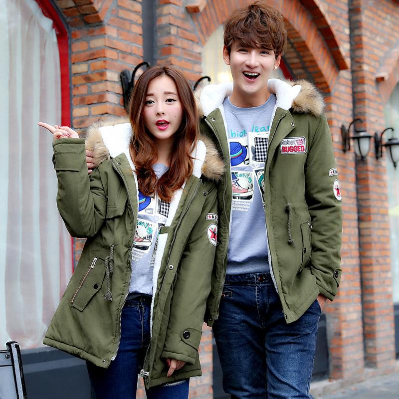 Jackets   parkas   Winter   parkas   New fashion women's clothing coat and cotton thickening couples male long hooded coat down new hot