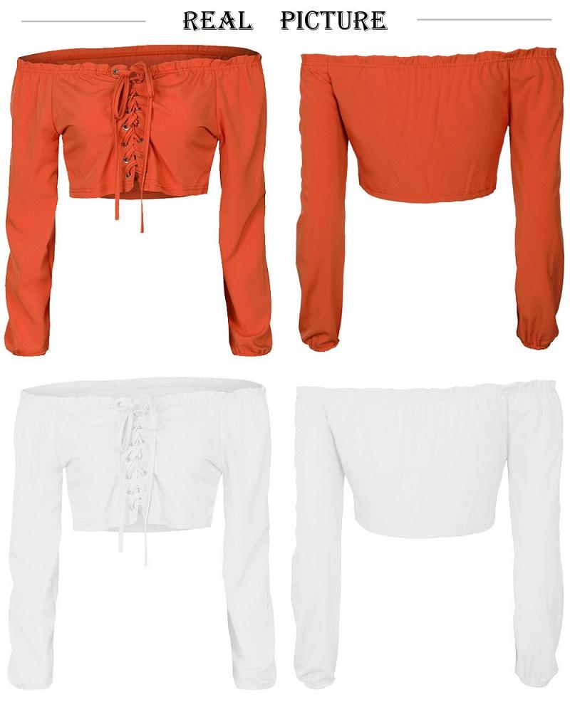 HTB1Pnarb1kJL1JjSZFmq6Aw0XXav - Sexy Lace Up Off Shoulder Crop Tops Long Sleeve JKP237