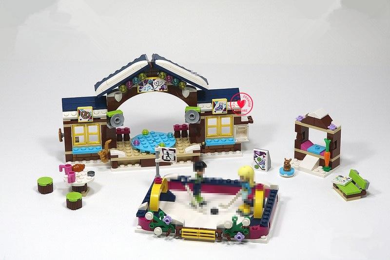 Friends 01043 Girls Club Snow Resort Ice Rink 41322 Lepin model Building Block Compatible legoe friends Brick Toys dahle 41322