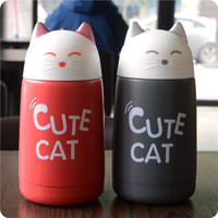 New Cute Cat My Insulation Water Bottle 330ml Thermos Vacuum Cup For Baby Children Belly Cup