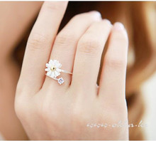 Simplicity of original Japan and Korea Creative students Flower personality Rings Fashion Simple for girls gift