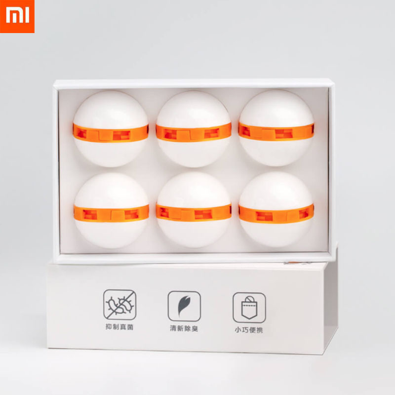 New 6pcs <font><b>Xiaomi</b></font> <font><b>Youpin</b></font> Safe Clean Fresh Shoes Deodorant Dry Deodorizer Air Purifying Switch Ball Shoes Eliminator for Home Shoes image