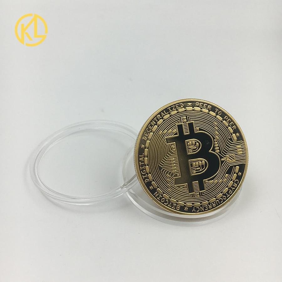 Прямая поставка позолоченная монетница Monero коллекционный подарок Casascius Бит монета Биткоин художественная коллекция физический Золотой памятные монеты - Цвет: CO-019-1