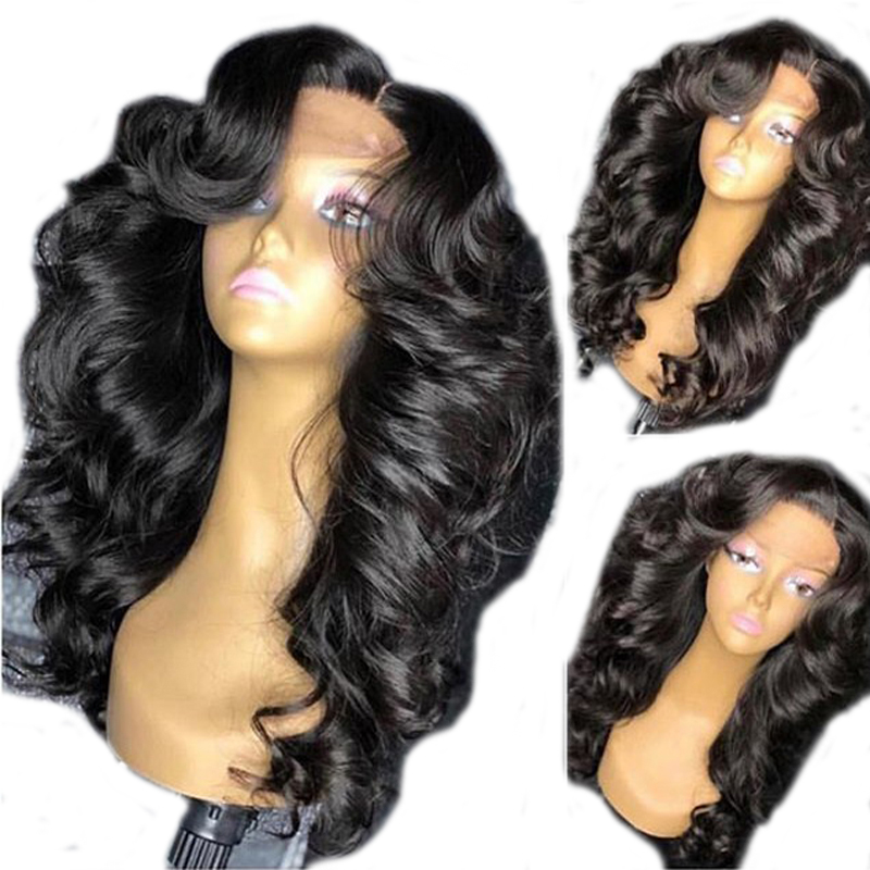 Black Women Brazilian Remy 250 Density Lace Wig Buoncy Curly 13X6 Deep Part PrePlucked Lace Front Human Hair Wigs With Baby Hair