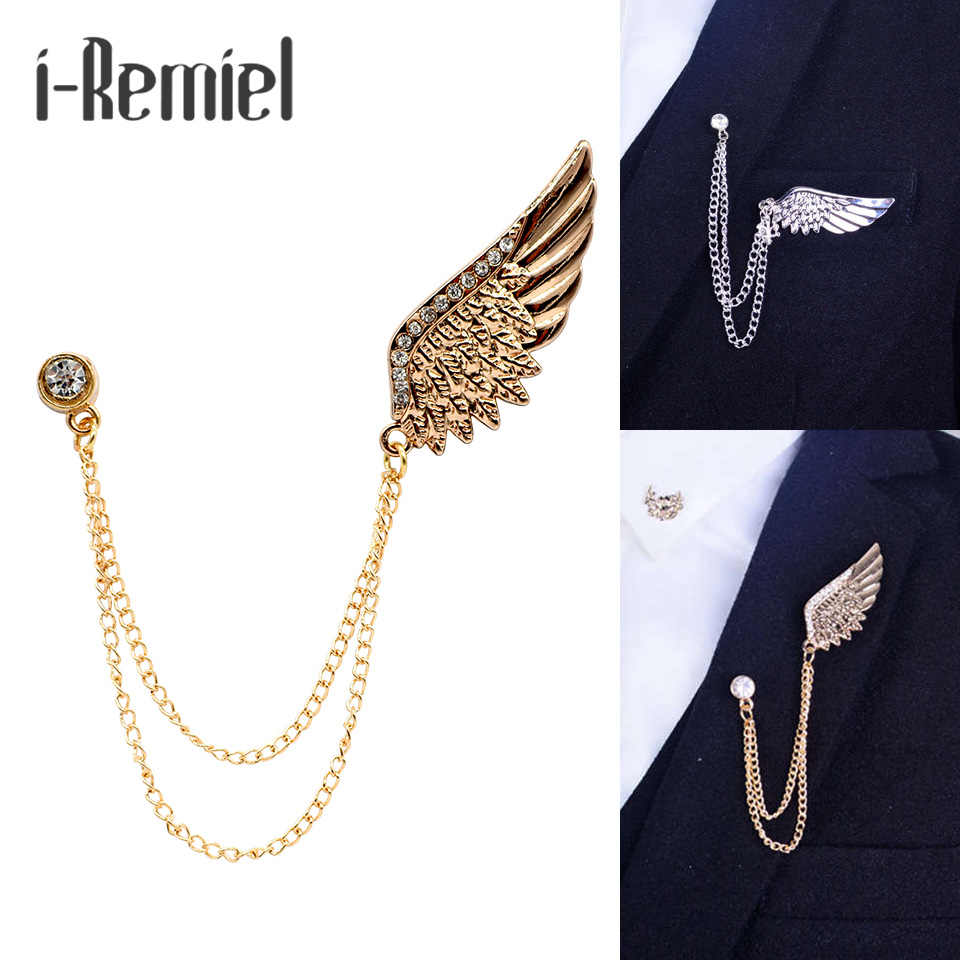 048b0acc7cb 2017 Time-limited Trendy Brooch Lovers' Brooches Hot Shirt Angel Wings  Tassel Brooch Collar