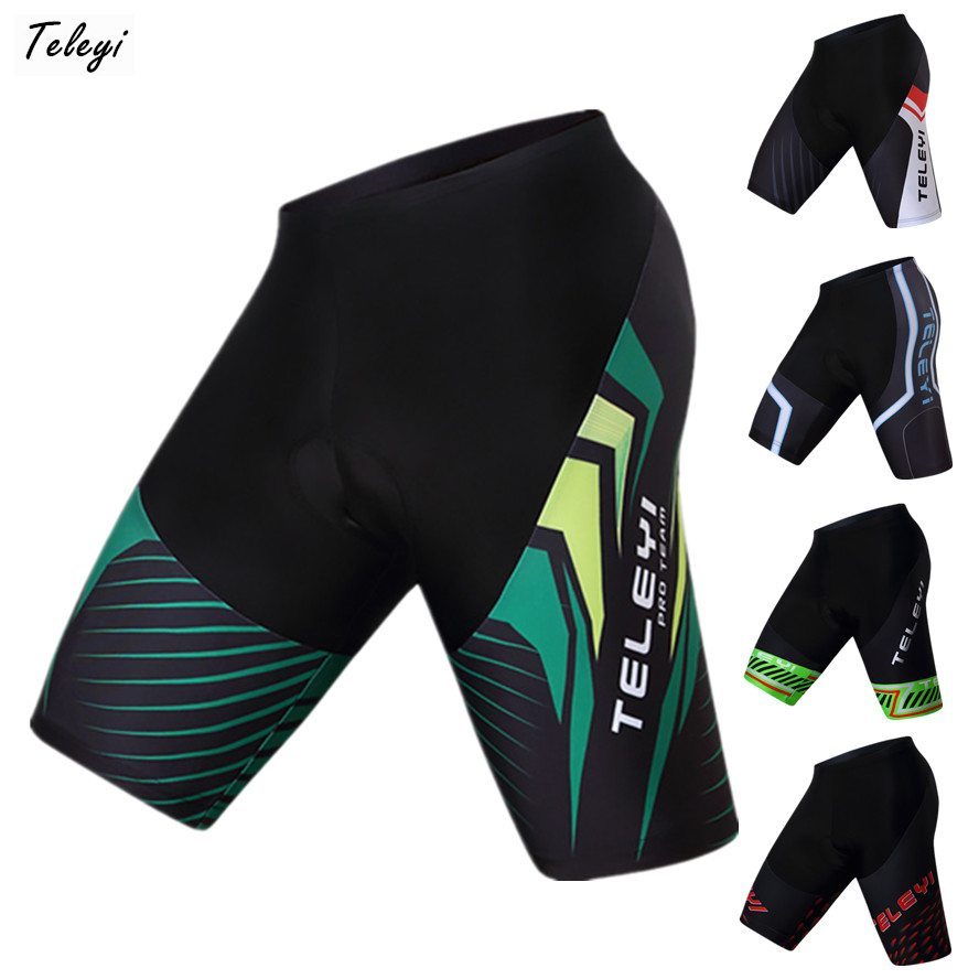 869ff70093 Teleyi 2019 carreras de Deporte Pantalones cortos de Ciclismo Ropa Ciclismo  verano mtb bicicleta pantalones cortos Coolmax 4D Gel Pad pantalones cortos  de ...