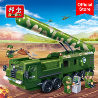 BanBao Military Army Truck Intercontinental Missile Blocks Educational Building Bricks Toy Model 6202 Boy Children Kids Gift