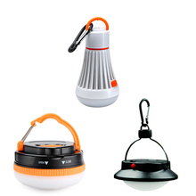 hot 4 Modes Portable Outdoor Camping Tent Light 6LED 3W Lantern Hanging Lamp For Night Fishing Camping 18650/3x AAA battery