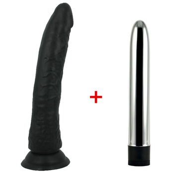 black Big Realistic Dildo Strong Suction Cup Dick Penis & multi Speed strong Vibrators for Women Sex Toys for Woman Sex Shop image