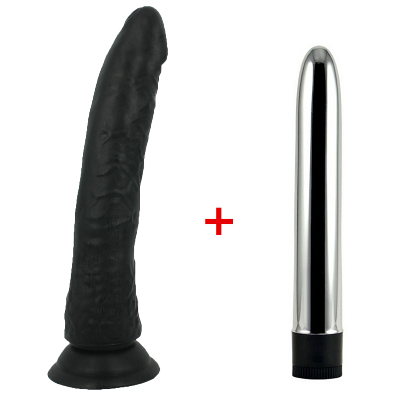 black Big Realistic Dildo Strong Suction Cup Dick Penis & multi Speed strong Vibrators for Women Sex Toys for Woman Sex Shop