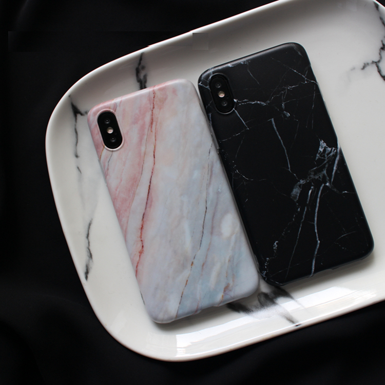 Marble Case For Iphone 7 Case Cover Silicone TPU Matte Cover Cases For Iphone 8 7 Plus X 6 6S Plus Luxury Case Fundas Capa in Fitted Cases from Cellphones Telecommunications