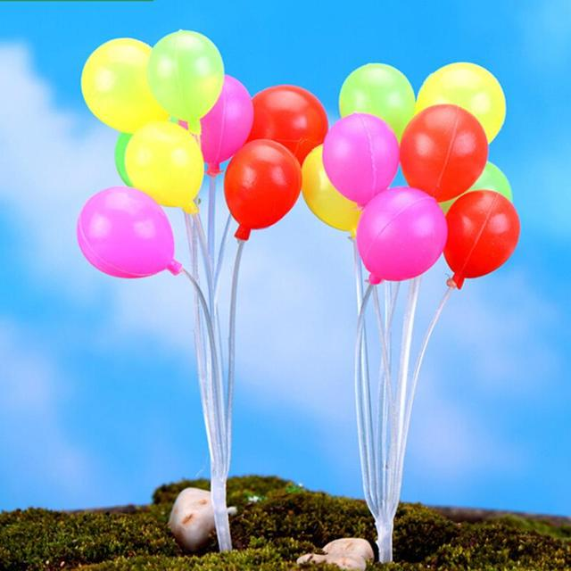 Cute Mini Dolls Home Garden Simulation Colorful Balloons Micro Landscape Garden Decorations Christmas Gift Miniatures 6