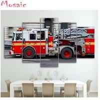 new Fire truck diamond painting 5d diy diamond painting car, full & round/square diamond cross stitch, living room decoration