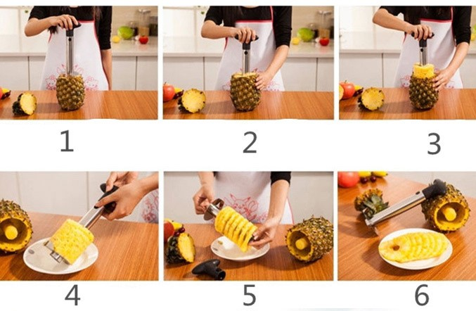 Stainless Steel Pineapple Peeler for Kitchen Accessories Pineapple Slicers Fruit Knife Cutter Kitchen Tools and Cooking Hot Sale in Pineapple Slicers from Home Garden