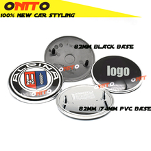 2pc 82mm/74mm Front Hood Badge Emblem Rear Trunk Logo wheel hubs Epoxy Resin stickers pvc Cover blue white black decals for bmw