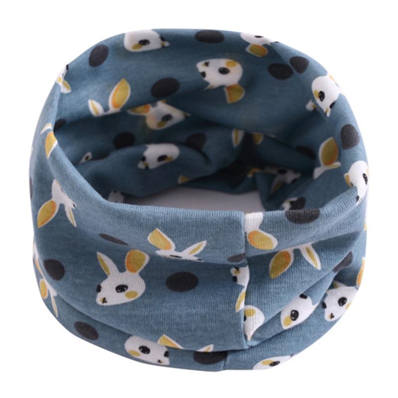 Весенний детский хлопковый шарф, теплый шарф для маленьких детей, осенне-зимние шарфы с героями мультфильмов для мальчиков и девочек, детский воротник с круглым вырезом, волшебный шейный платок - Цвет: 07