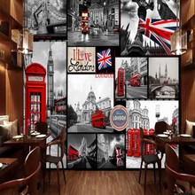 Wallpaper For Walls 3 D Retro London Street View Murals Living Room  Restaurant Bar Backdrop Custom Photo Wallpaper Part 97