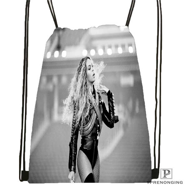 Custom HT beyonce jay z mona Drawstring Backpack Bag Cute Daypack Kids Satchel Black Back 31x40cm