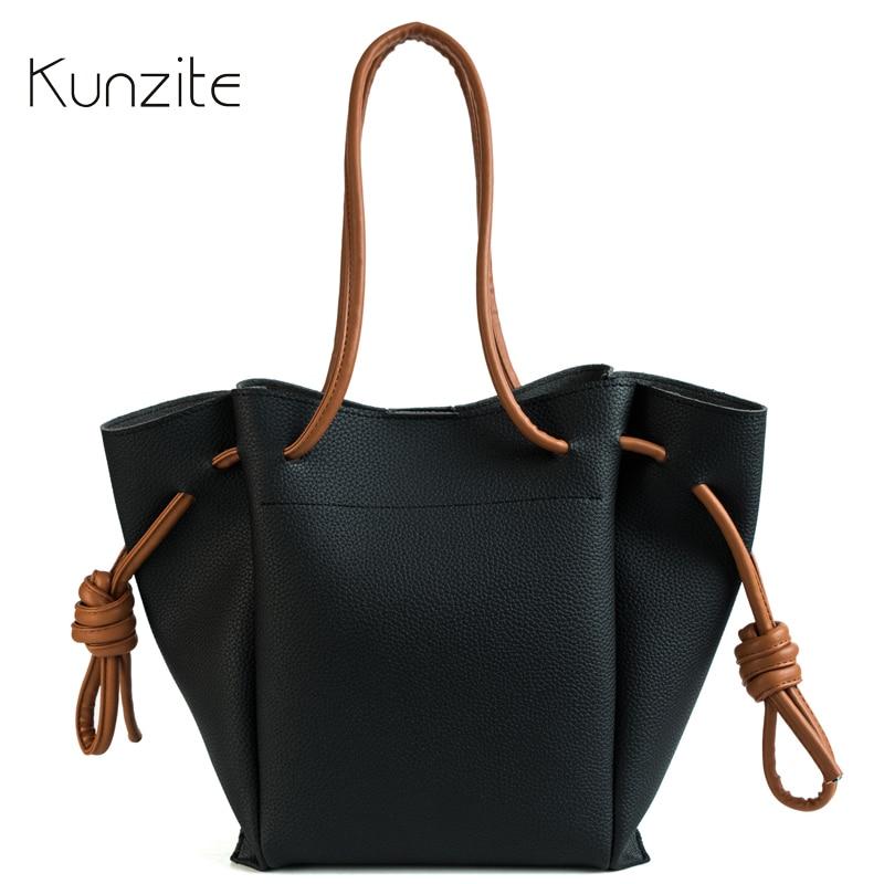 KUNZITE Luxury Women Handbags Women Leather Bags Designer Fashion Female Large Capacity Daily Tote Bag Sling