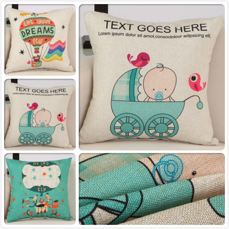 18x18inch Outdoor 45*45cm Cute Baby Mall Gift Print Cushion Cover Patio Furniture Home Decors Sofa Bed Car Seat Back Pillow Case
