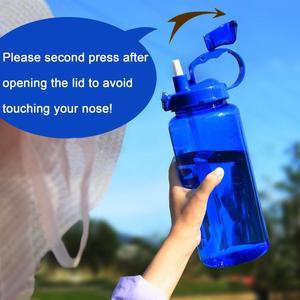 Image 5 - QuiFit 2L 3.8L แกลลอนขวดน้ำกีฬา Tritan Straw Big โปรตีน Shaker เครื่องดื่มขวด Gourd ถ้วยเหยือก BPA ฟรีกลางแจ้ง
